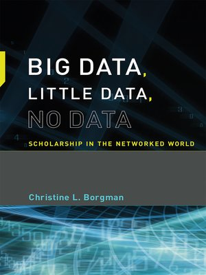 cover image of Big Data, Little Data, No Data