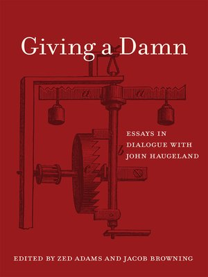 cover image of Giving a Damn