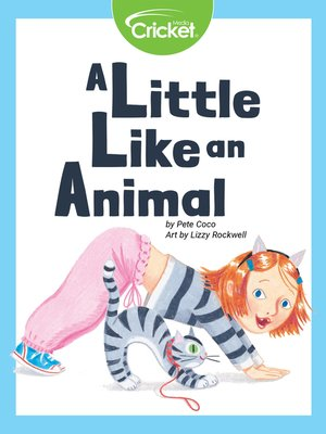 cover image of A Little Like an Animal