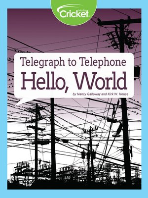 cover image of Telegraph to Telephone