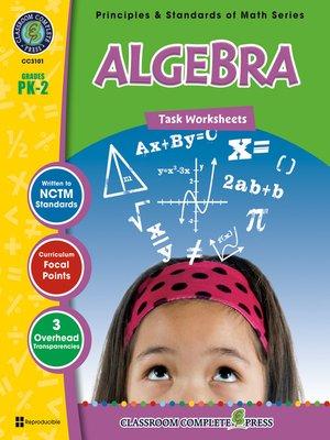 cover image of Algebra - Task Sheets