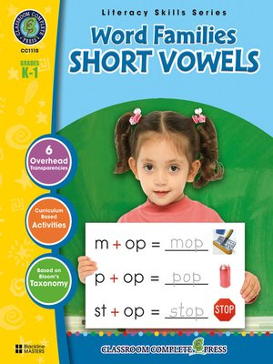 cover image of Word Families - Short Vowels
