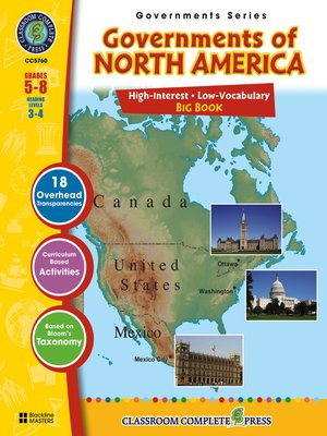 cover image of Governments of North America Big Book