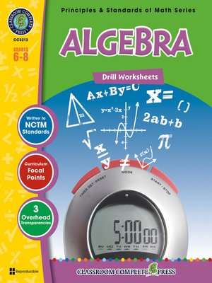 cover image of Algebra - Drill Sheets