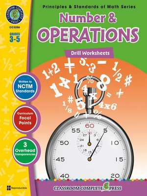 cover image of Number & Operations - Drill Sheets