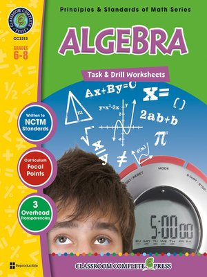 cover image of Algebra - Task & Drill Sheets