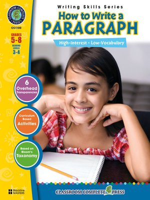 cover image of How to Write a Paragraph