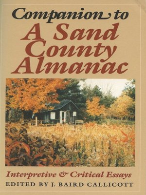 cover image of Companion to a Sand County Almanac