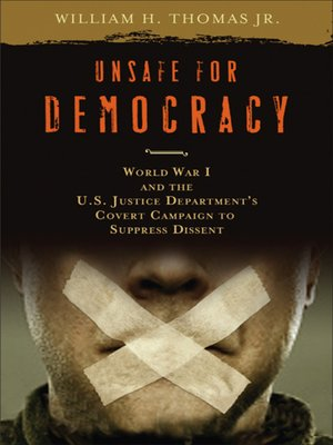 cover image of Unsafe for Democracy