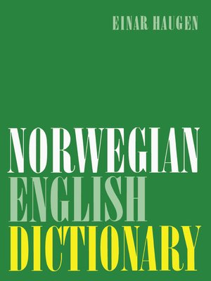 cover image of Norwegian-English Dictionary