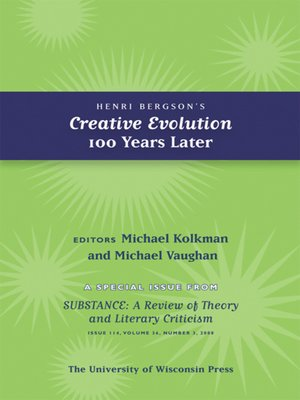 cover image of Henri Bergson's Creative Evolution 100 Years Later