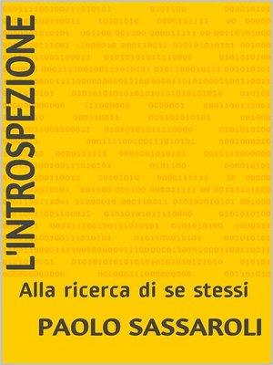 cover image of L'introspezione