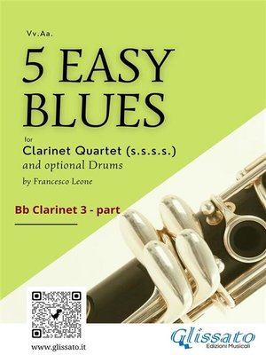 cover image of 5 Easy Blues for Clarinet Quartet (CLARINET 3)