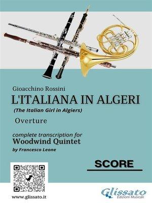 cover image of L'Italiana in Algeri--Quintetto di Fiati partitura e parti