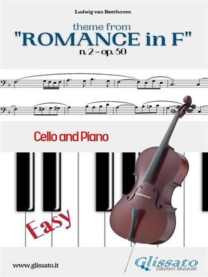 """cover image of Theme from """"Romance in F"""" Easy for Cello and Piano Solo"""