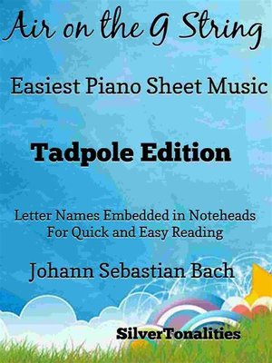 cover image of Air on the G String Easiest Piano Sheet Music Tadpole Edition