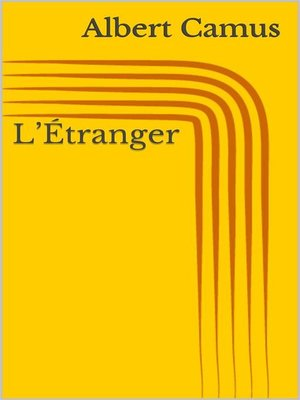 cover image of L'Étranger