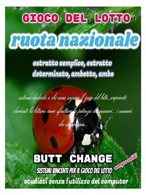 cover image of Gioco del lotto--Ruota Nazionale