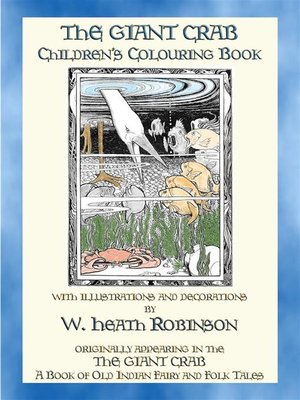 cover image of THE GIANT CRAB Children's Colouring Book