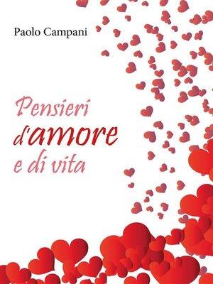 cover image of Pensieri d'amore e di vita
