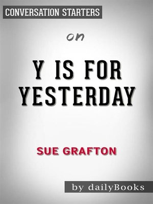cover image of Y is for Yesterday--by Sue Grafton