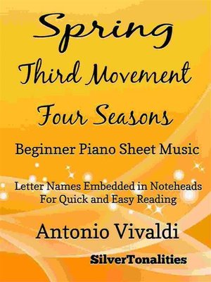 cover image of Spring Third Movement the Four Seasons Beginner Piano Sheet Music