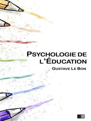 cover image of Psychologie de l'éducation