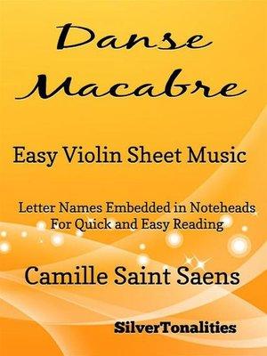 cover image of Danse Macabre Easy Violin Sheet Music