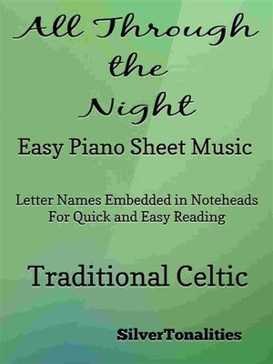 cover image of All Through the Night Easy Piano Sheet Music