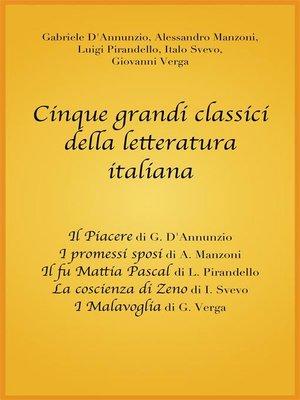 cover image of Cinque grandi classici della letteratura italiana