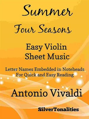 cover image of Summer the Four Seasons Easy Violin Sheet Music