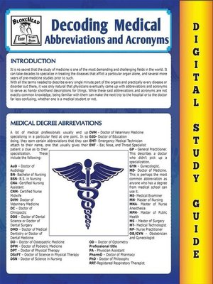 cover image of Medical Abbreviations and Acronyms (Blokehead Easy Study Guide)