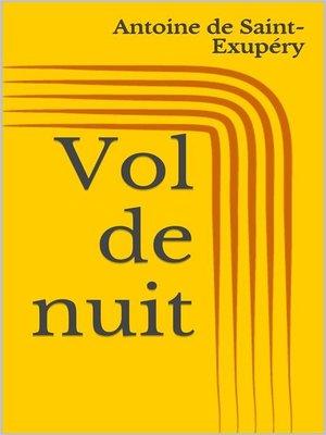 cover image of Vol de nuit