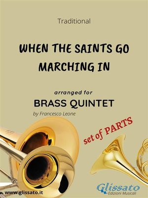 cover image of When the Saints Go Marching In--brass quintet set of PARTS