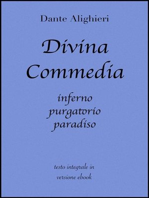 cover image of Divina Commedia di Dante Alighieri in ebook