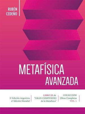 cover image of Metafísica Avanzada