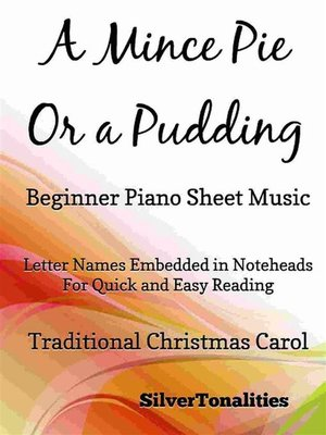 cover image of A Mince Pie or a Pudding Beginner Piano Sheet Music
