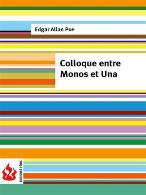 cover image of Colloque entre Monos et Una (low cost). Édition limitée