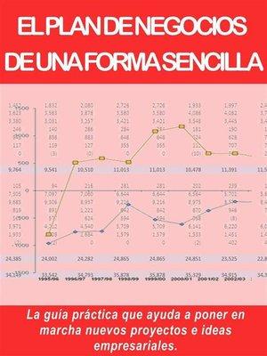 cover image of EL PLAN DE NEGOCIOS  DE UNA FORMA SENCILLA. La guía práctica que ayuda a poner en marcha nuevos proyectos e ideas empresariales.