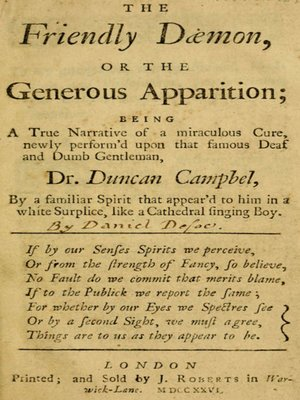 cover image of The Friendly Daemon, or the Generous Apparition