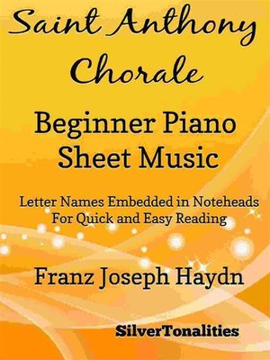 cover image of Saint Anthony Chorale Beginner Piano Sheet Music