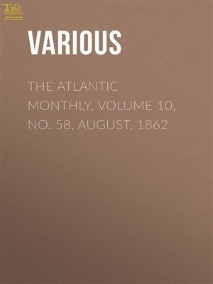 cover image of Atlantic Monthly, Volume 10