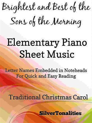 cover image of Brightest and Best of the Sons of the Morning Elementary Piano Sheet Music