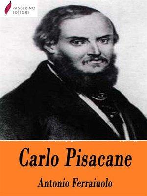 cover image of Carlo Pisacane