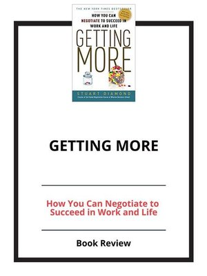 cover image of Getting More