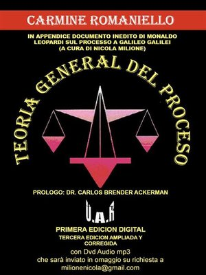 cover image of Teoria general del proceso