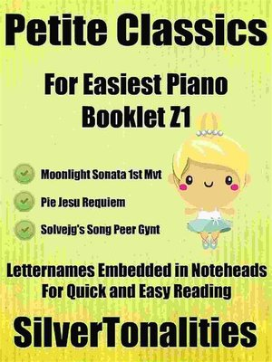cover image of Petite Classics for Easiest Piano Booklet Z1