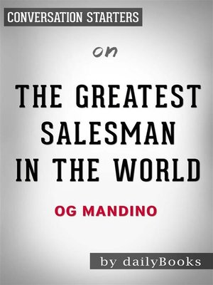 cover image of The Greatest Salesman in the World--by Og Mandino | Conversation Starters