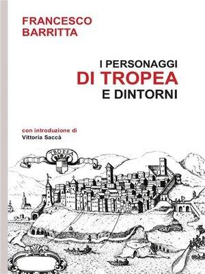 cover image of I personaggi di Tropea e dintorni