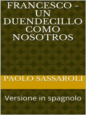 cover image of Francesco--Un duendecillo como nosotros